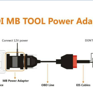 vvdi mb tool power adapter connection