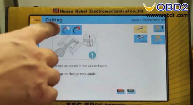 SEC-E9 Key Cutting Machine to Cut Silca HU100 Key (13)