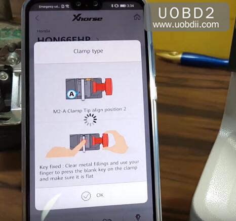 How to Use Xhorse Condor Dolphin Cut Honda HON66 Key (6)