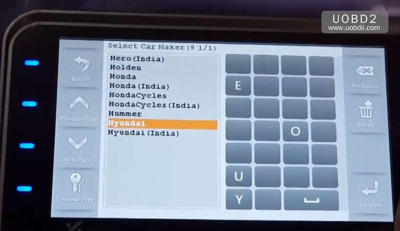 How to Use Codor Mini Plus Cut Keys for Huyndai ix35 Grand (2)