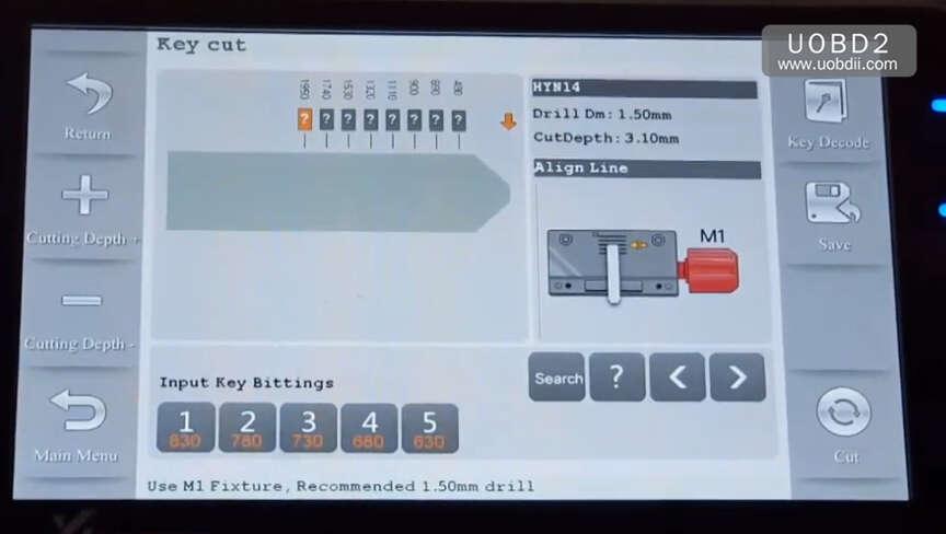 How to Use Codor Mini Plus Cut Keys for Huyndai ix35 Grand (5)