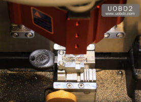 How to Use V8X6 Key Cutting Machine to Cut New Key for VW HU66 (18)