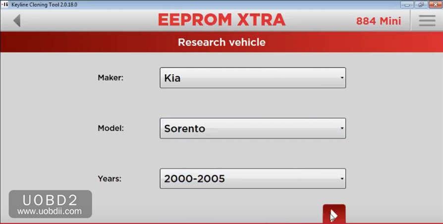 How to Use Keyline 884 to Add New Key for KIA Sorento 2005 (3)