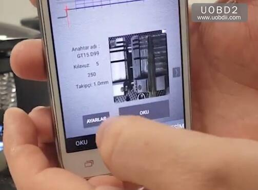 2M2 Magic Tank Duplication TestCuting A New FIAT GT15 Key (5)