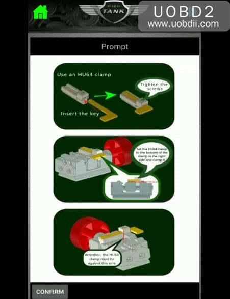 How to Use 2M2 Magic Tank Machine Cut HU64 Key (4)
