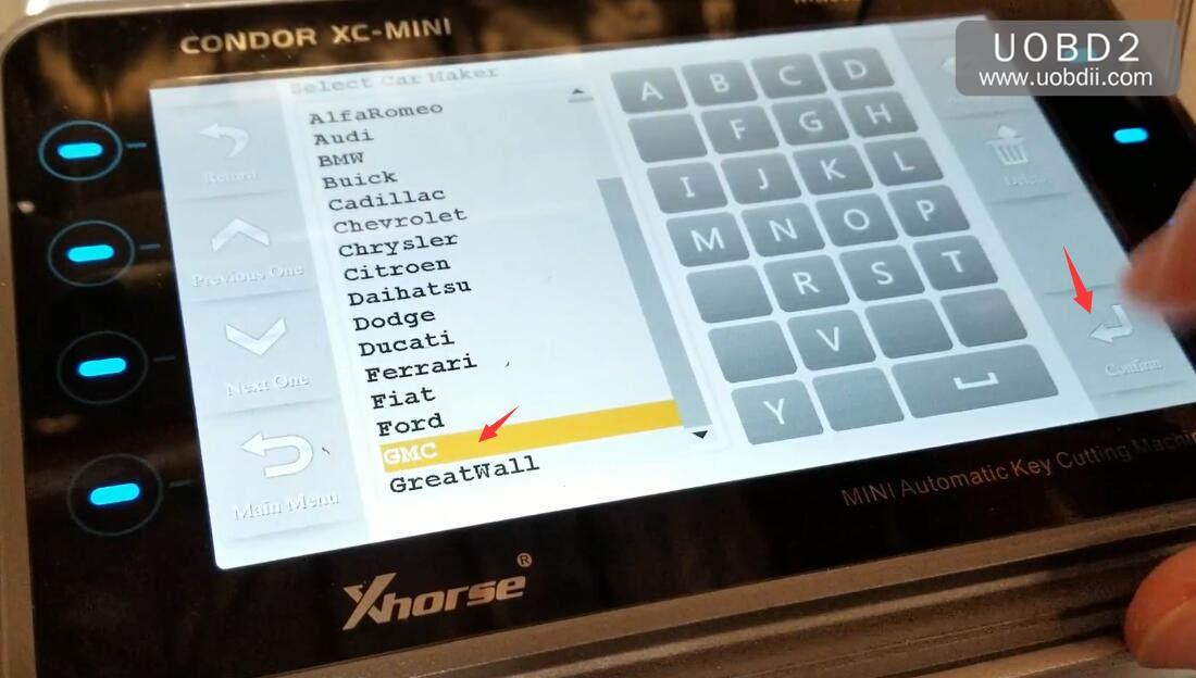 How to Use Xhorse XC-Mini Cut Key for GMC B102 Key (1)